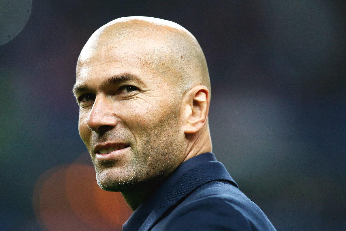 Zidane, en un partido del Real Madrid.