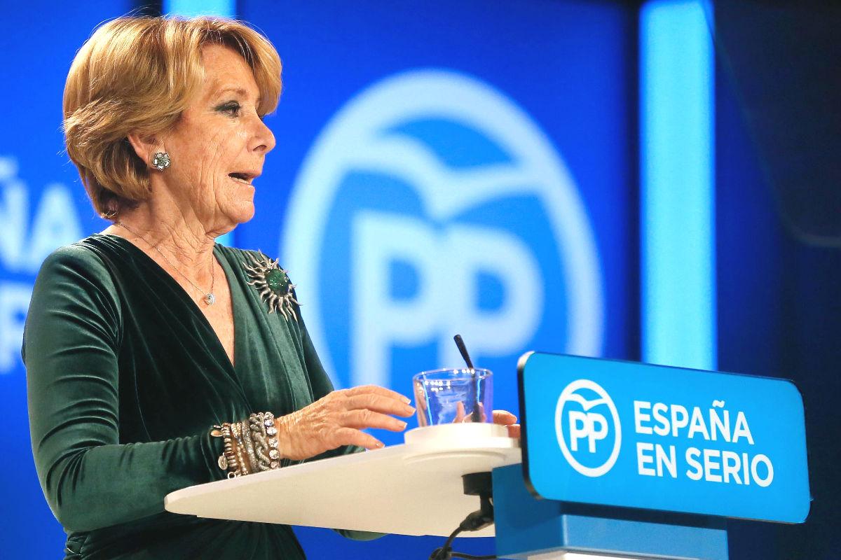 La presidenta del PP de Madrid, Esperanza Aguirre (Foto: Efe)