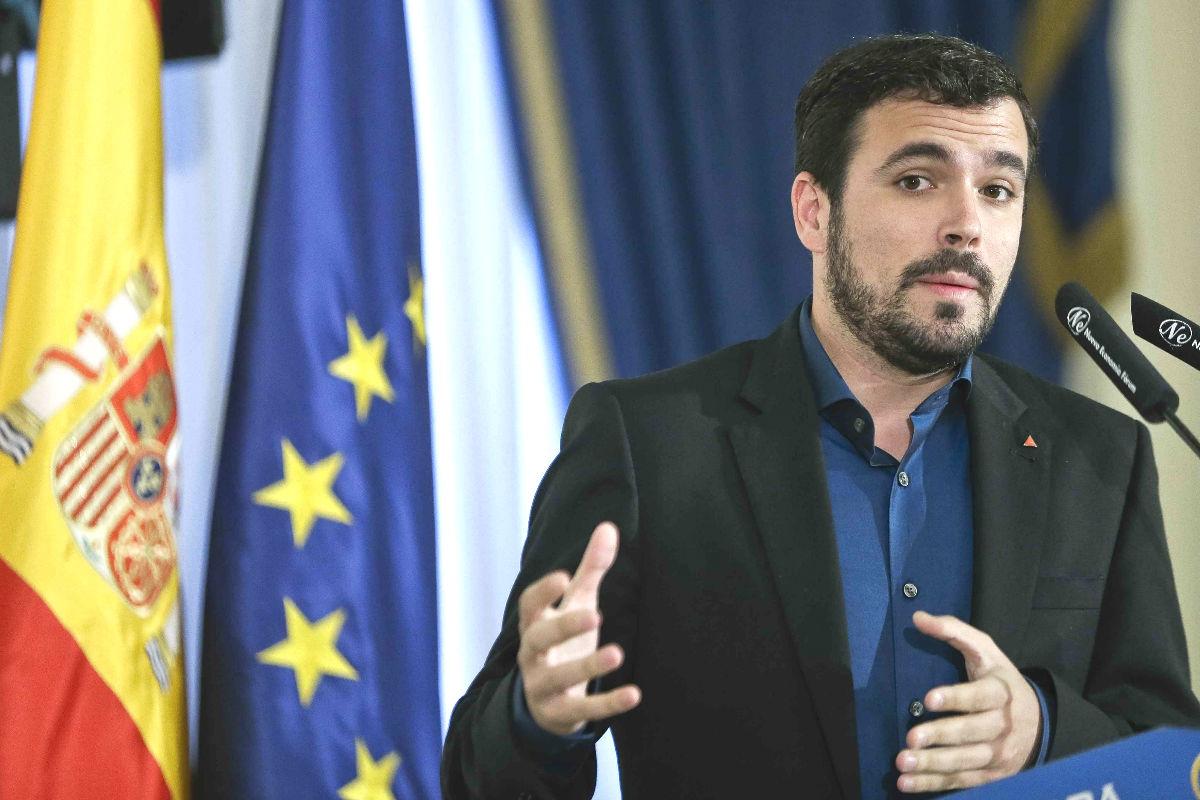 El candidato de IU a la Presidencia del Gobierno, Alberto Garzón (Foto: Efe)