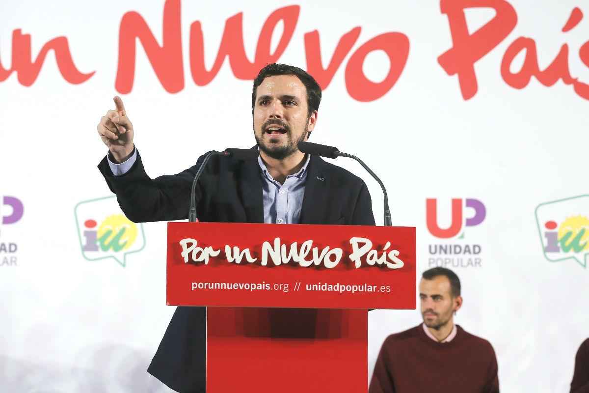 El candidato de Unidad Popiular-Izquierda Unida a la Presidencia del Gobierno, Alberto Garzón (Foto: Efe)