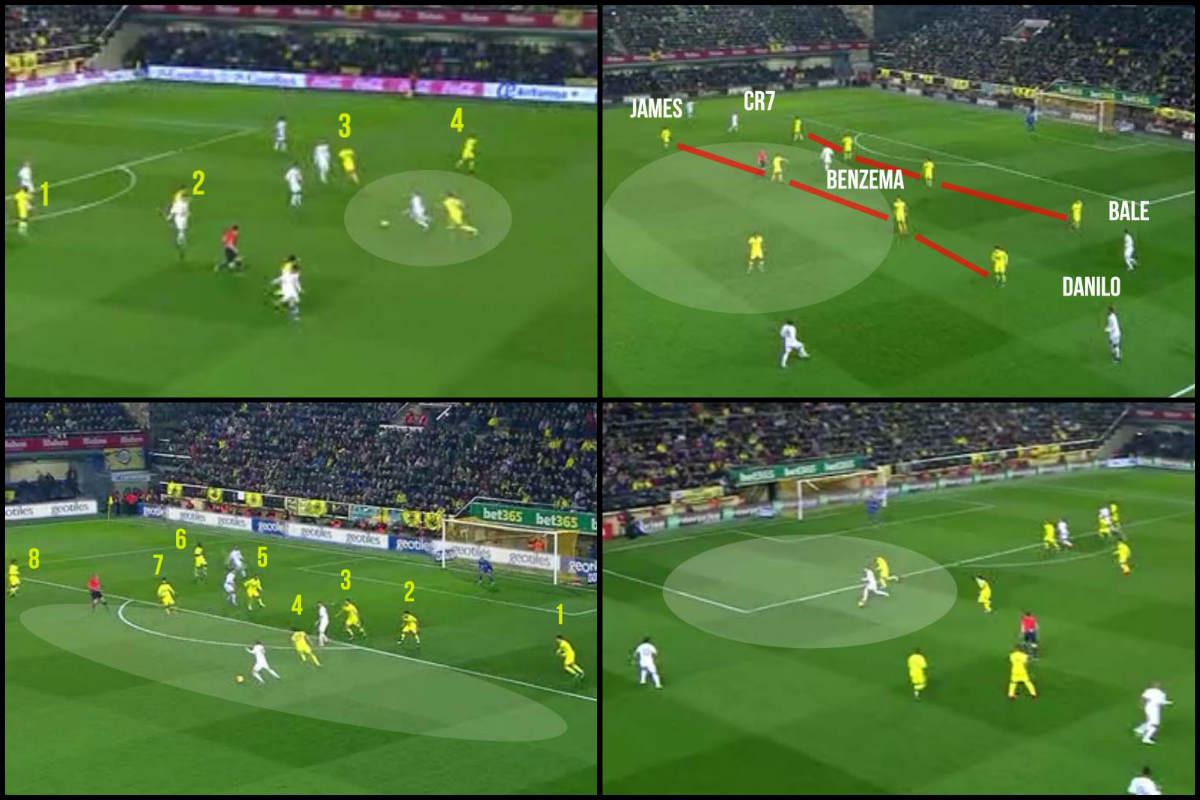 Análisis táctico del Real Madrid contra el Villarreal