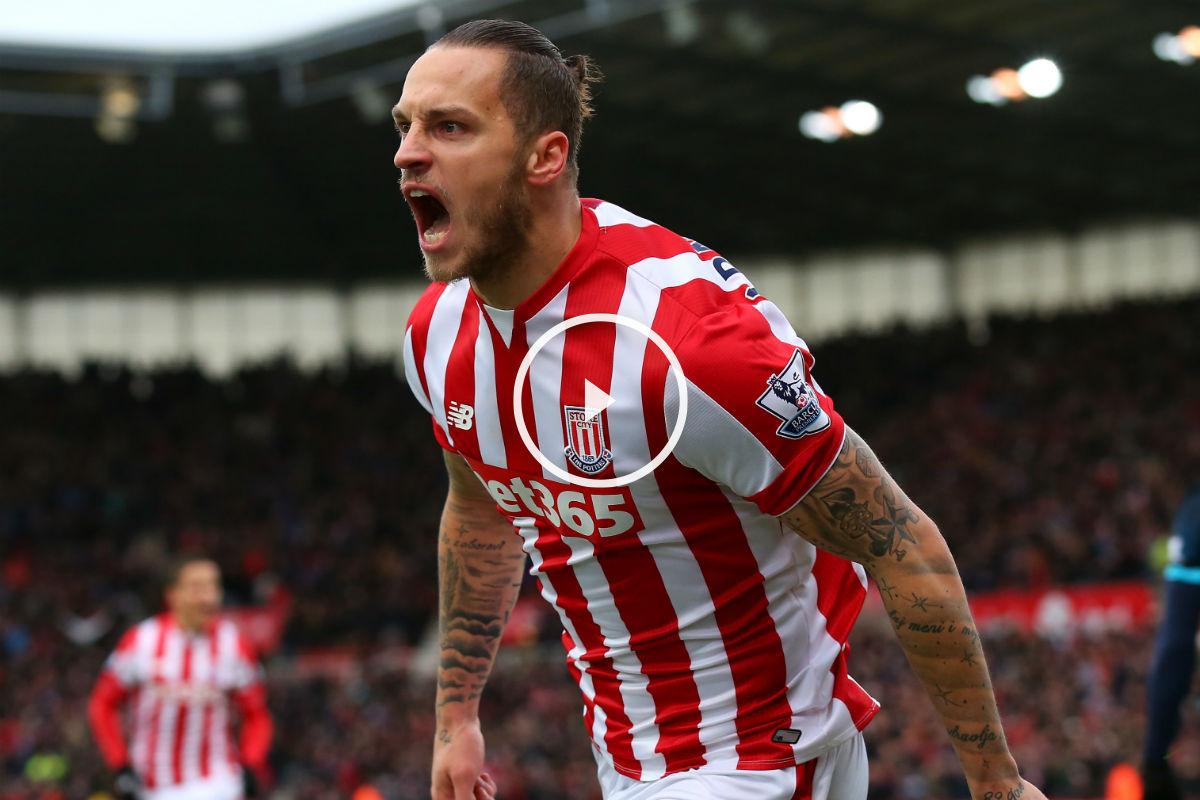 Arnautovic (Stoke) marcó el mejor gol de la jornada (Getty)