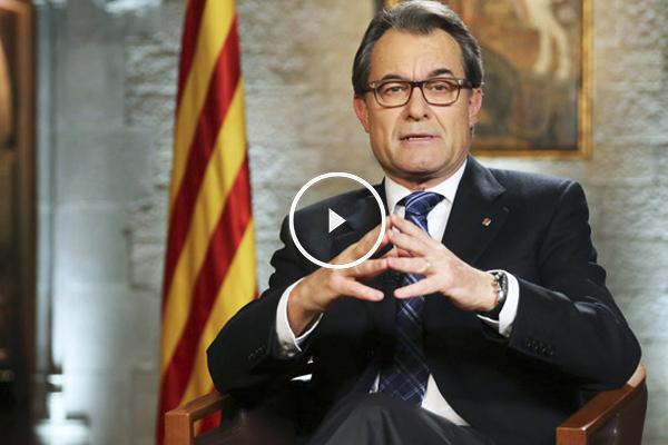 Artur Mas durante su mensaje navideño. (Foto: Generalitat)