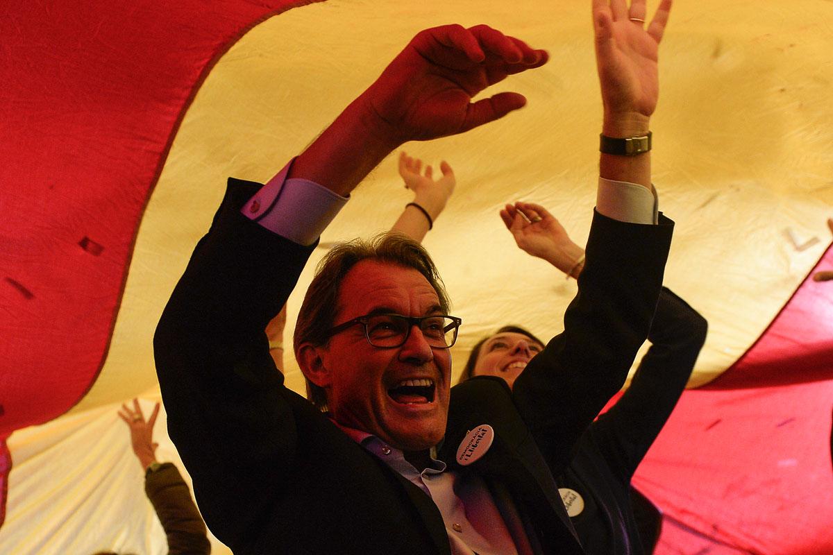 Artur Mas, presidente en funciones de la Generalitat. (Foto: AFP)