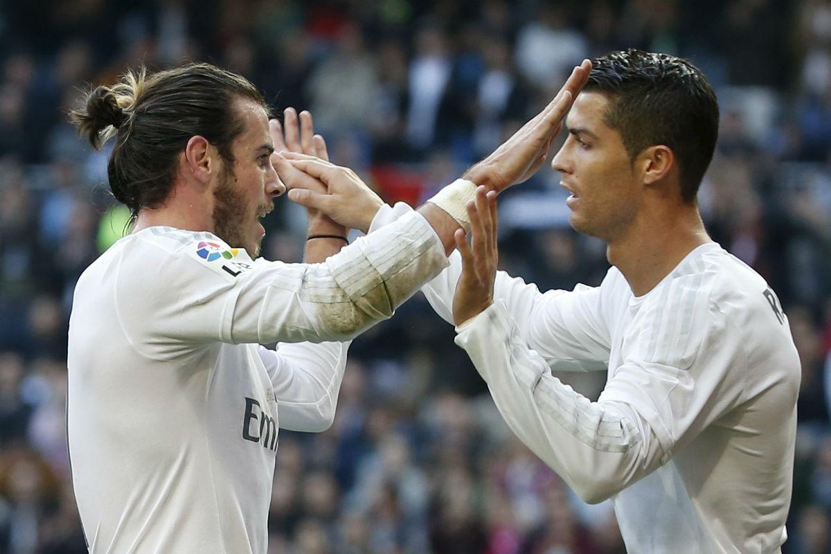 Bale y Cristiano celebran un gol ante el Getafe (Reuters)
