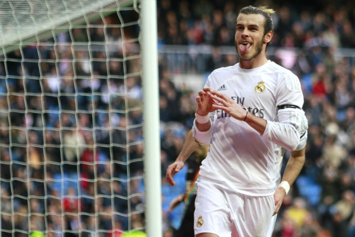 Bale celebra uno de sus cuatro goles al Rayo. (EFE)