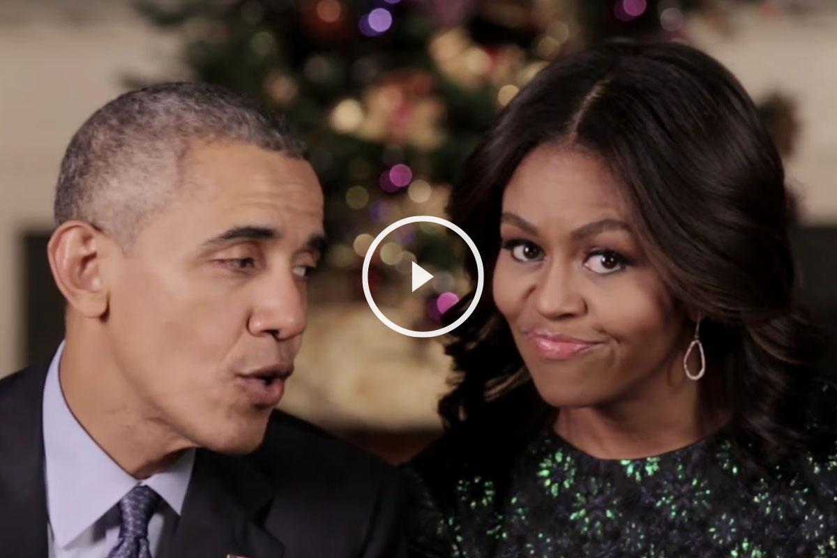 Discurso navideño de Barack y Michelle Obama.