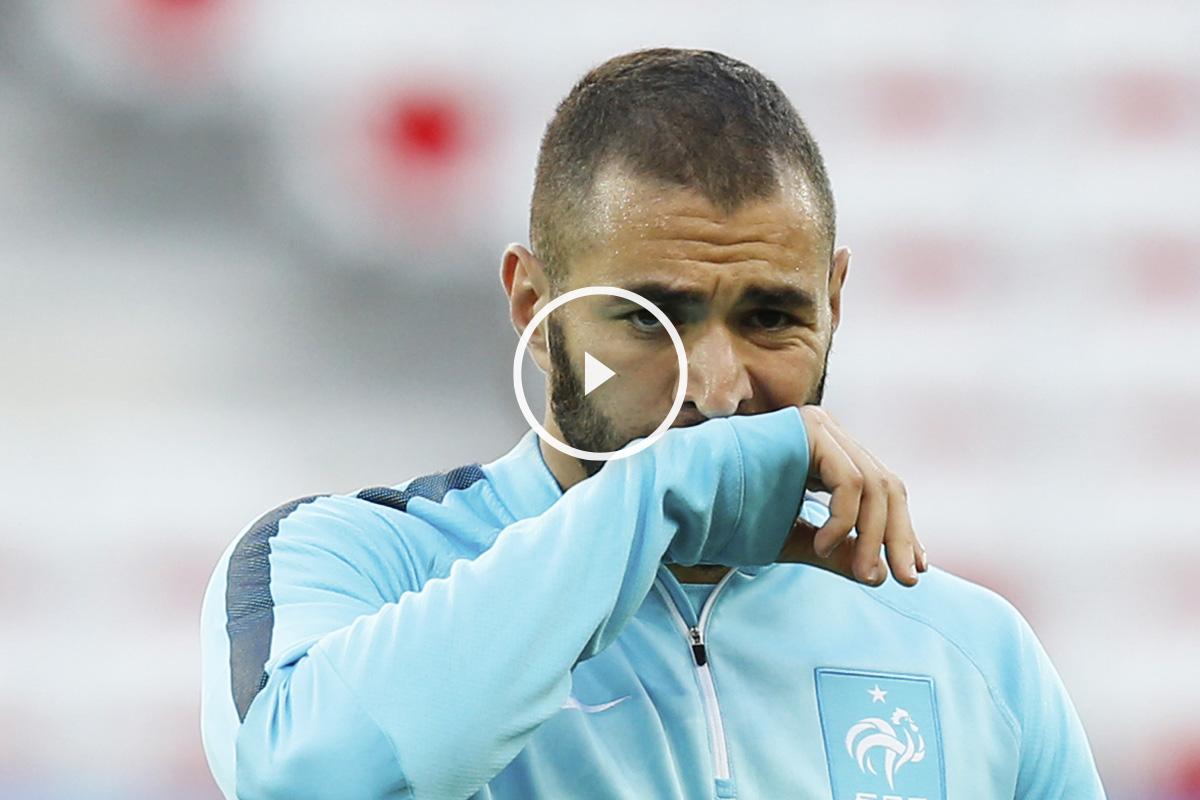 Karim Benzema, en un entrenamiento con Francia. (Foto: AFP)
