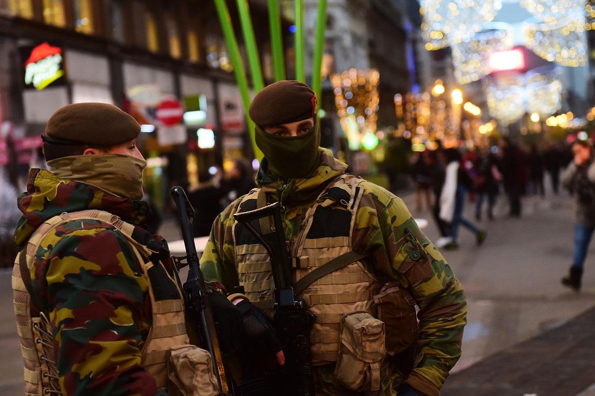 Bruselas, tomada por el ejército días después de los ataques de París. (Foto: AFP)
