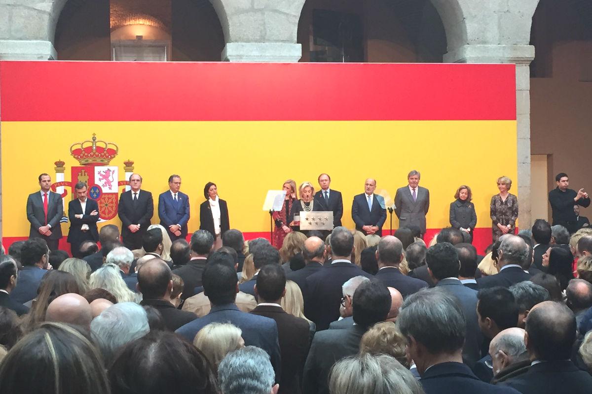 Acto celebrado para conmemorar el día de la Constitución. (Foto: Nuria Val)