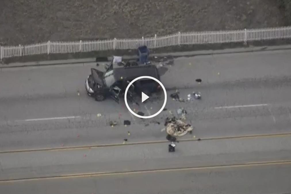 El coche de los supuestos autores de los atentados de San Bernardino.