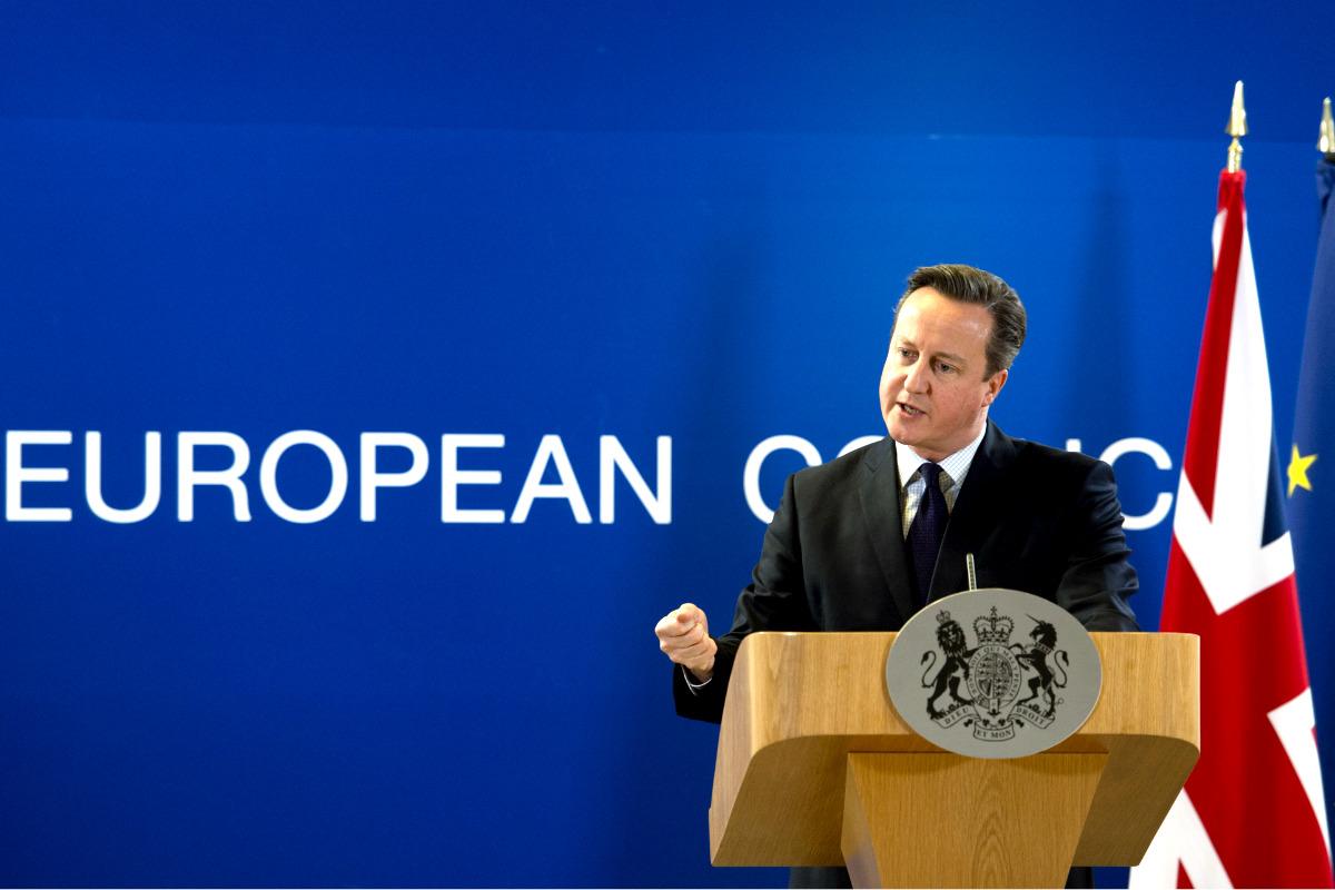 El primer ministro británico tras el último Consejo de 2015. (Foto: AFP)