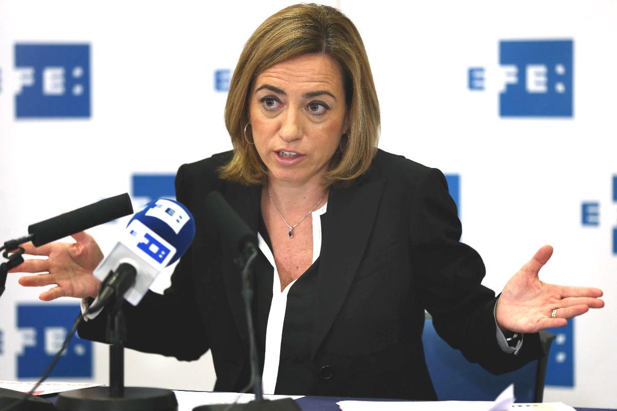 La cabeza de lista del PSC a las elecciones generales, Carme Chacón (Foto: Efe)