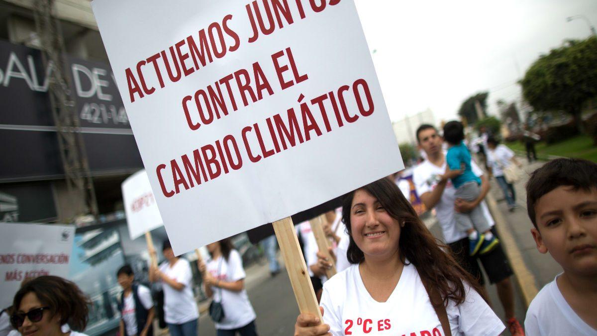 Manifestación contra el cambio climático (Foto: Getty).