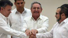 Colombia y las FARC se comprometen septiembre a un acuerdo de paz en seis meses ante Raúl Castro. (Foto: Luis Acosta/AFP)