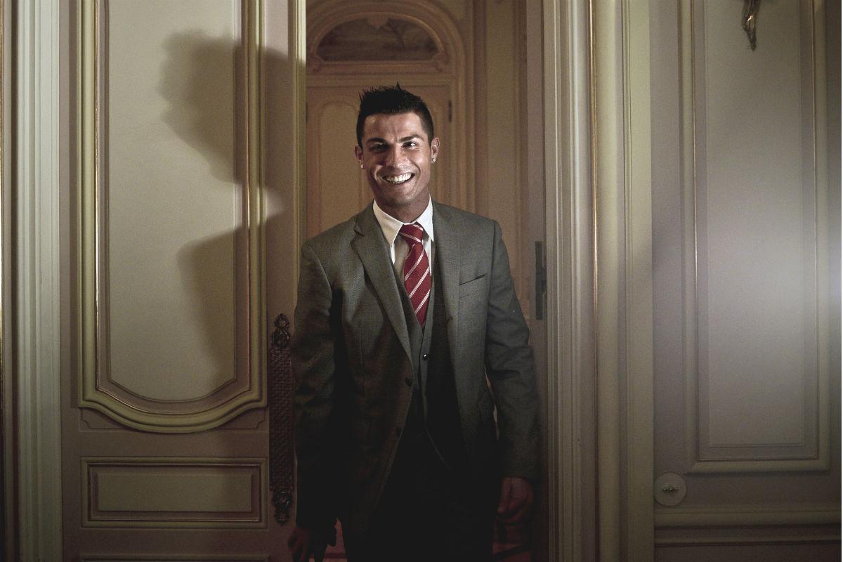 Cristiano, en el Pestana Hotel Palace de Lisboa. (AFP)