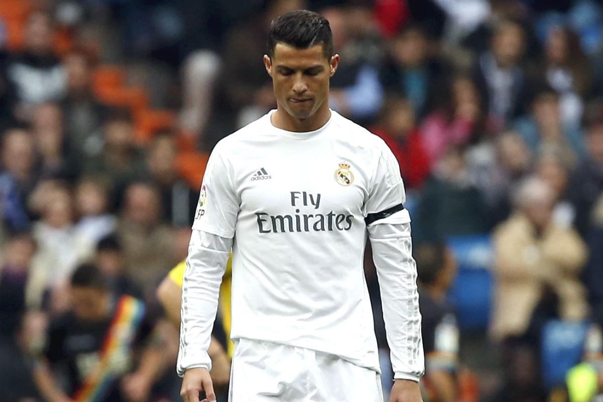 Cristiano Ronado no celebró el tercer gol del Real Madrid. (Reuters)