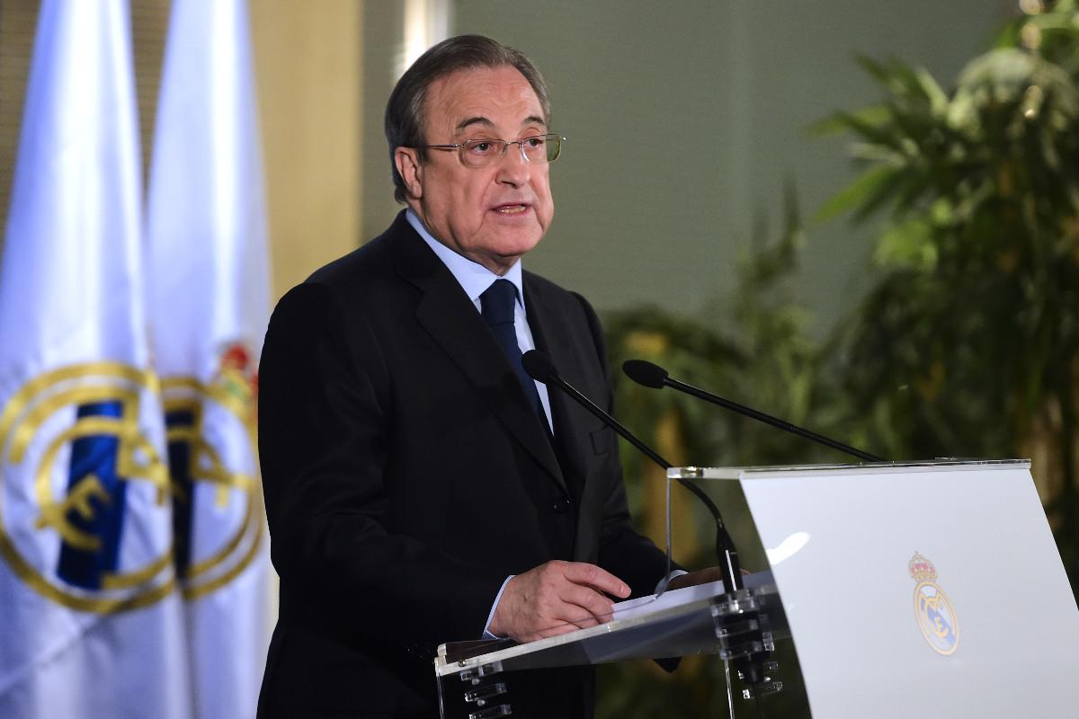 Florentino Pérez durante su discurso navideño (AFP)