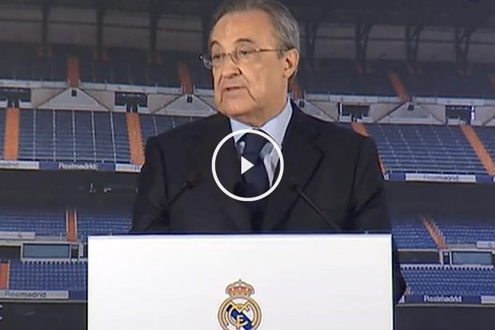 Florentino Pérez atendió a los medios