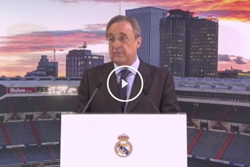 Florentino Pérez durante su discurso navideño