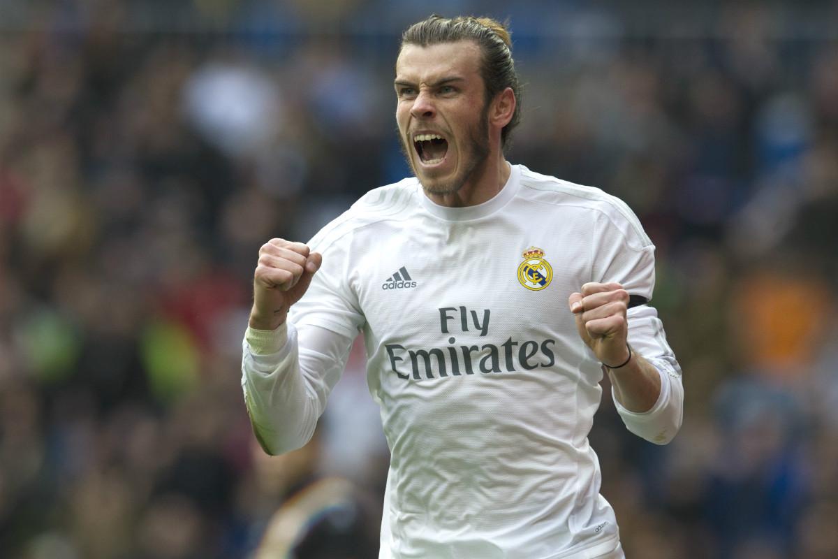 Bale celebra uno de los cuatro goles que marcó al Rayo. (AFP)