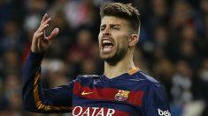 Piqué, en un partido con el Barcelona. (Reuters)