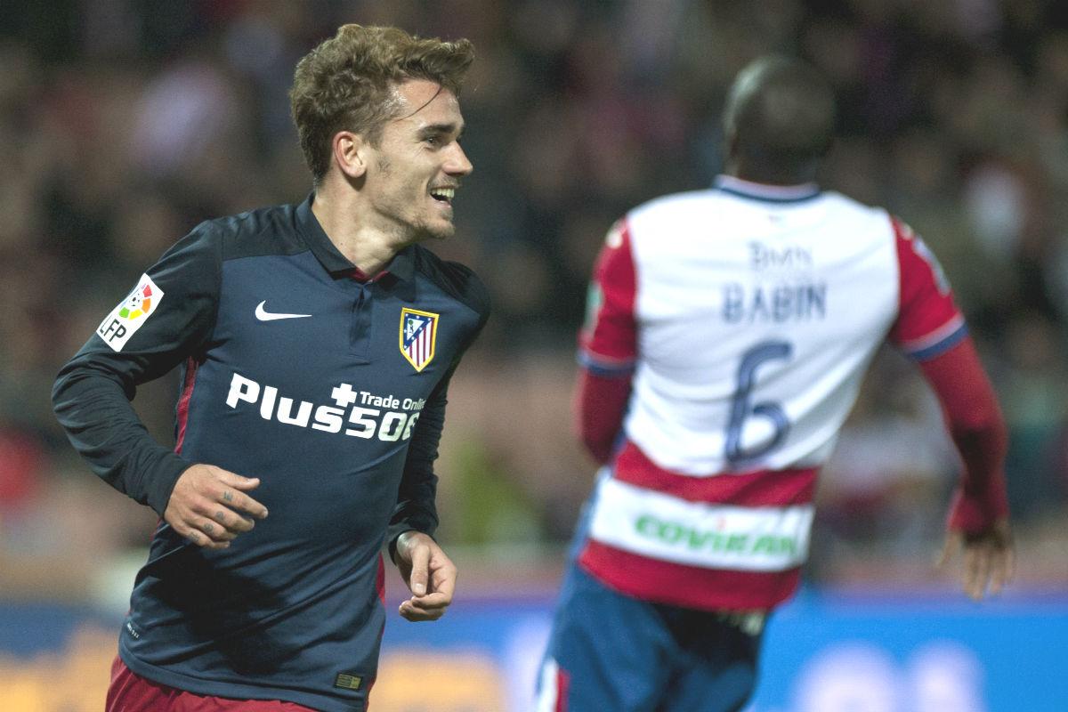 Griezmann anotó el segundo gol del Atlético (AFP)