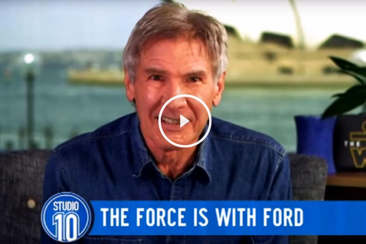 Harrison Ford se burla de Donald Trump.