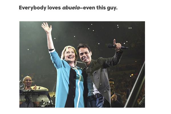 Campaña en Twitter contra el intento de Hillary Clinton por captar el voto latino: #NotMyAbuela