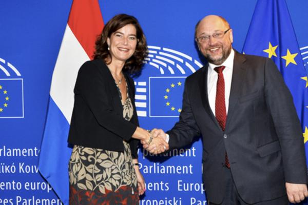 La política holandesa con su homólogo en la Eurocámara (Foto: Flickr CC)