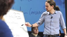 Pablo Iglesias, durante un mitin en la campaña electoral de las generales.