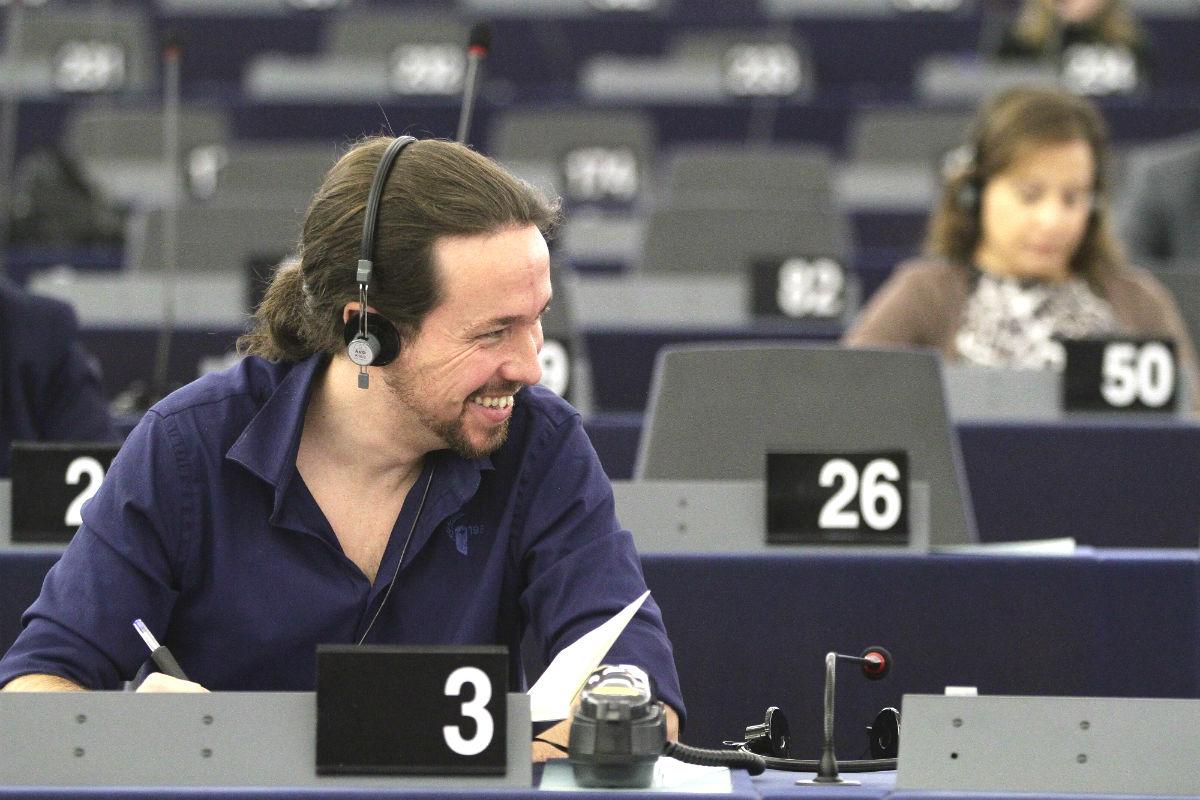 Pablo Iglesias en el Parlamento Europeo (Foto: GETTY).