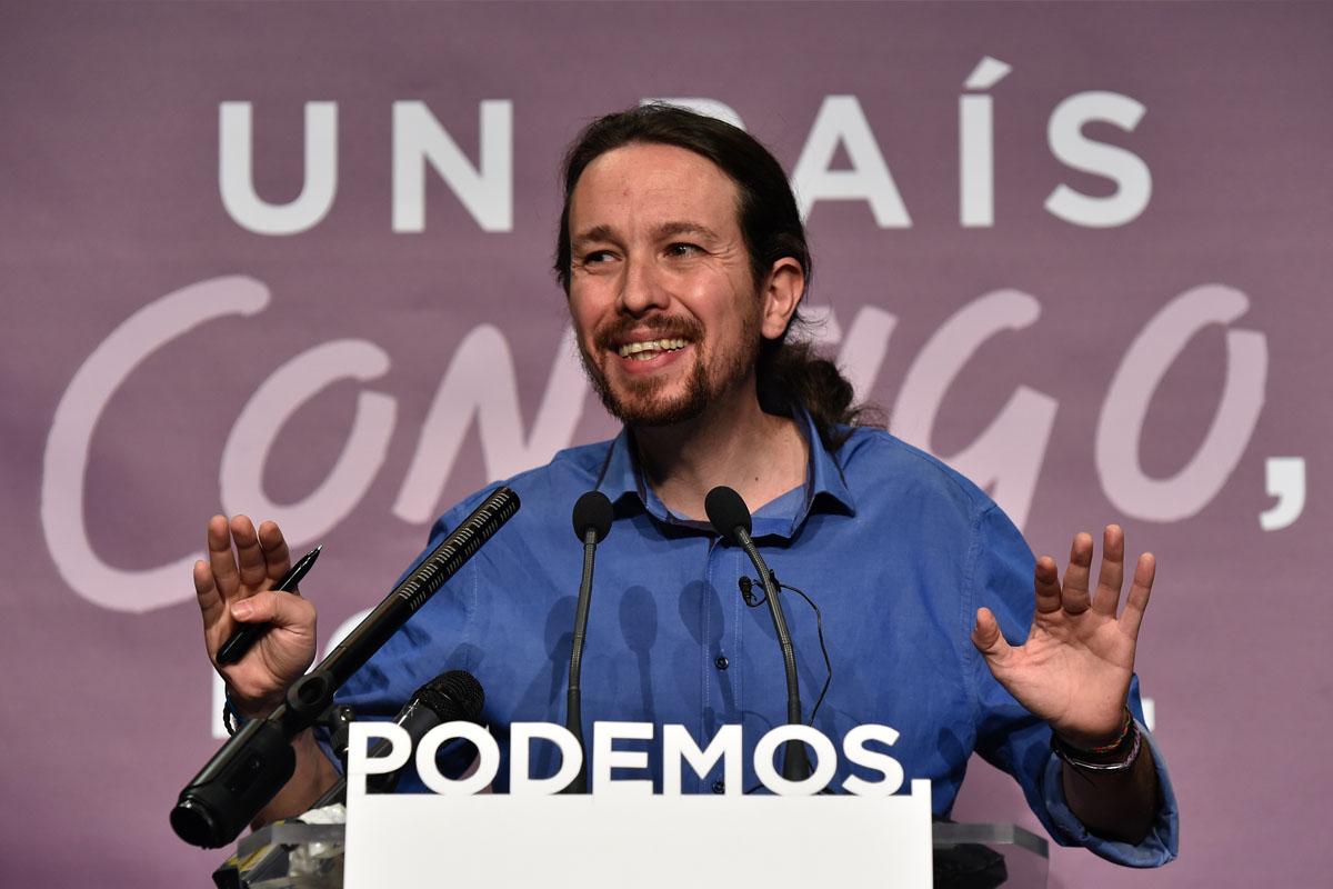 Pablo Iglesias, líder de Podemos. (Foto: AFP)