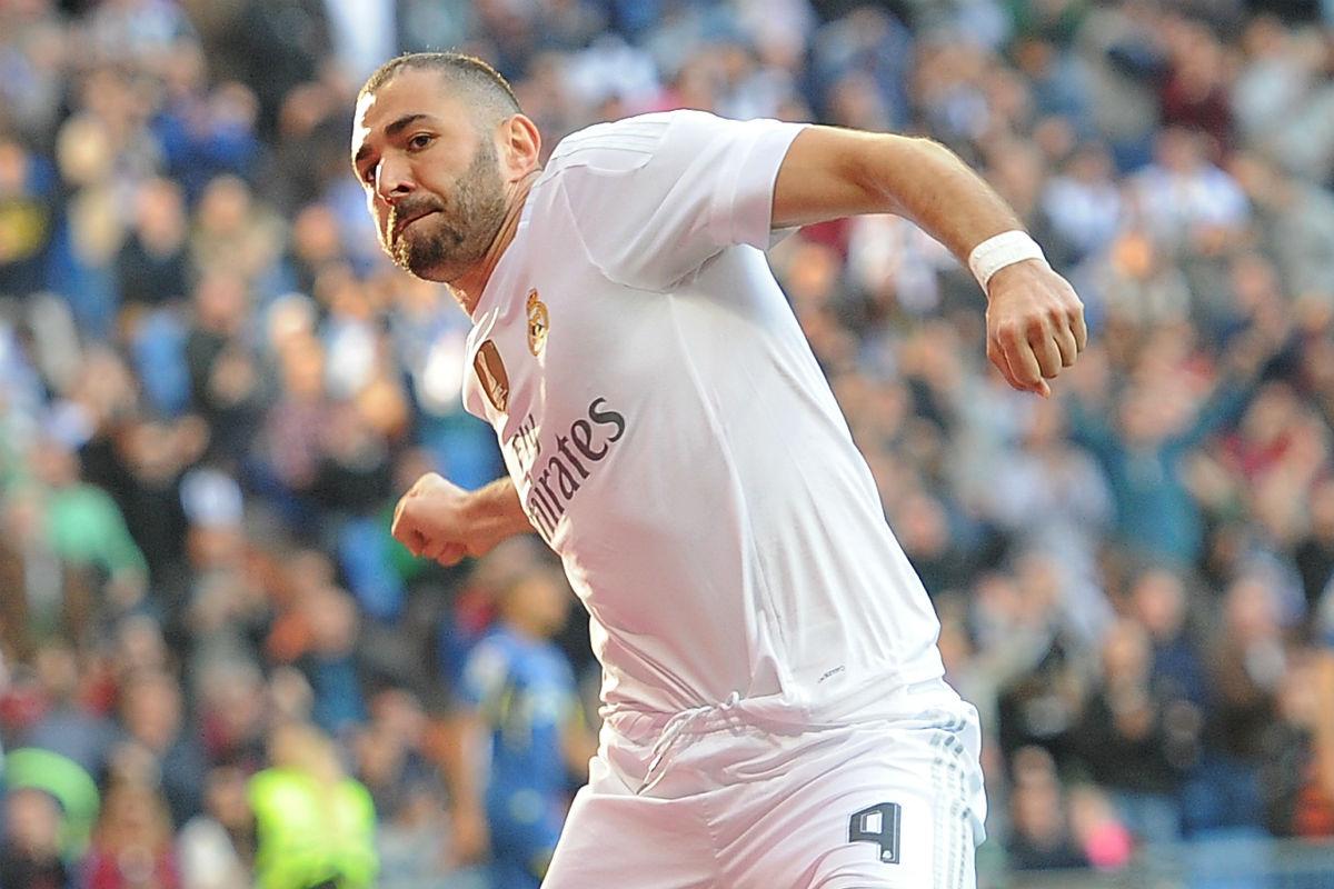 Karim Benzema, goleador contra el Getafe (Getty)