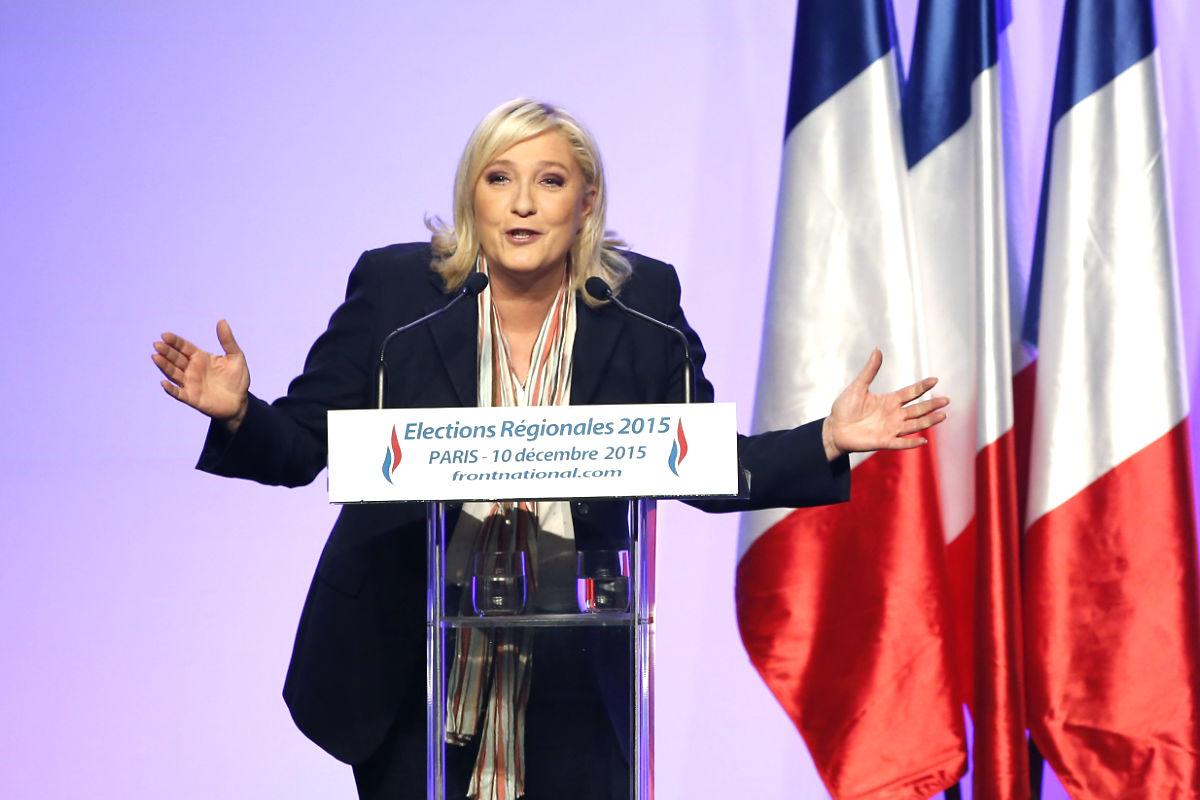Marine Le Pen en un reciente acto (Foto: AFP).