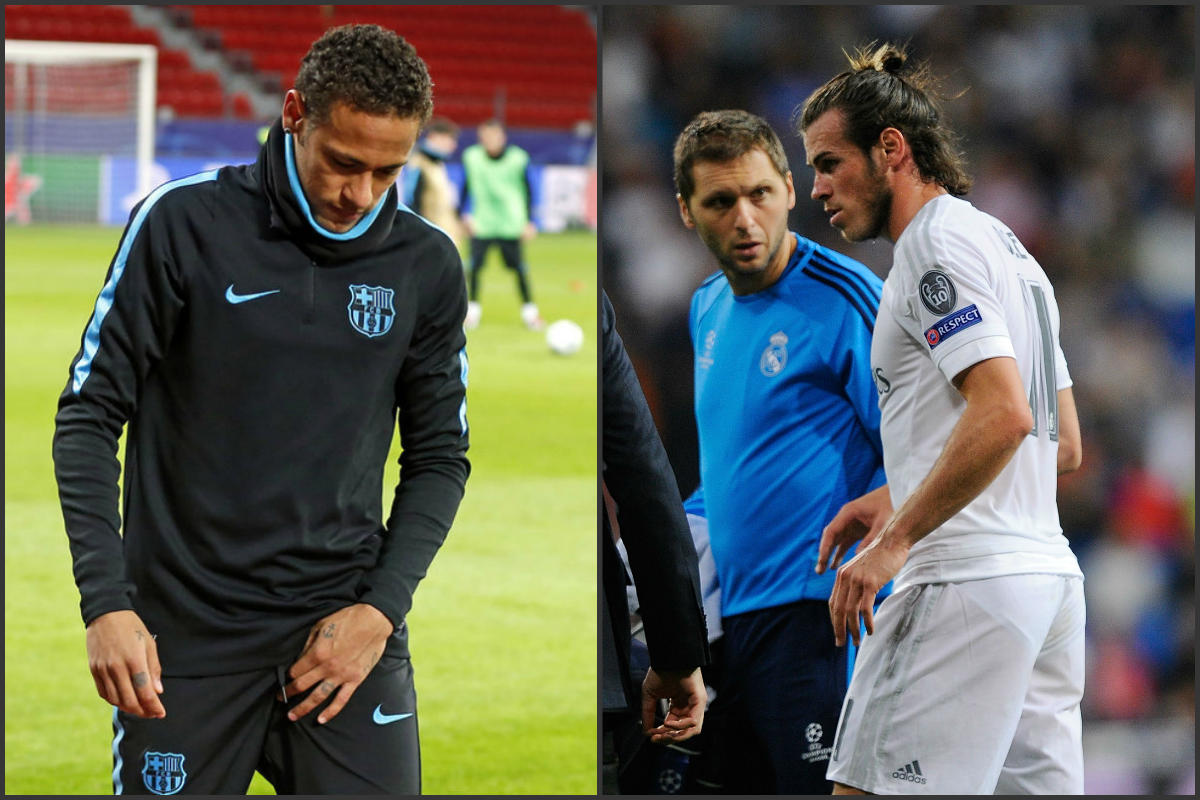 Neymar y Bale han caído lesionados esta temporada (fcbarceloya.es y Getty)