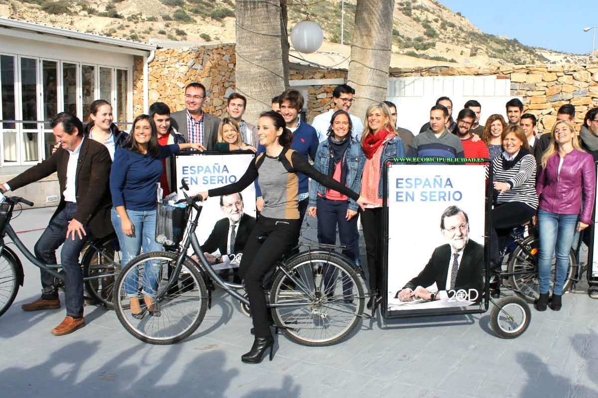 Andrea Levy en el acto de campaña celebrado en Alicante (Foto: Efe).
