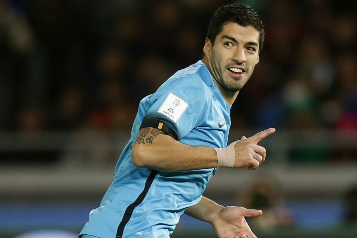 Luis Suárez, goleador ante el Guangzhou. (Getty)