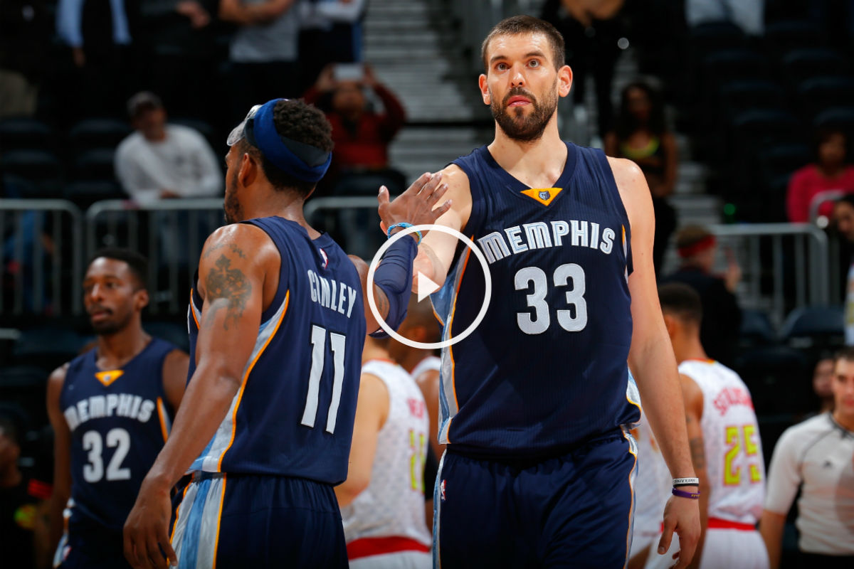Marc Gasol brilló con los Grizzlies (Getty)