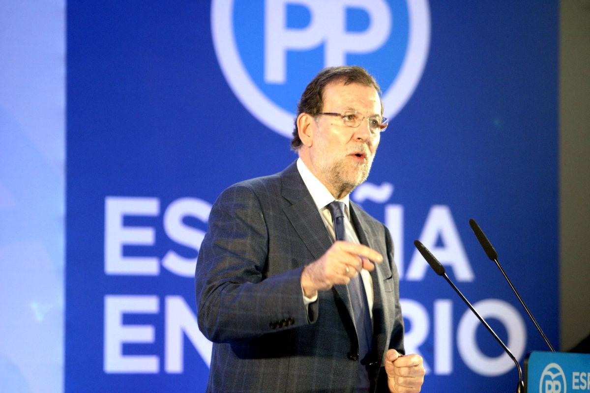 Mariano Rajoy durante el acto de precampaña en Melilla (Foto: Efe)