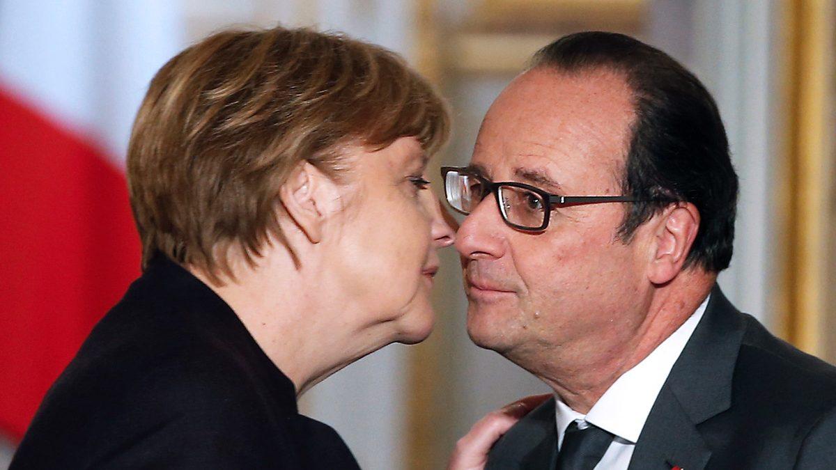 Angela Merkel y François Hollande. (Foto: AFP)