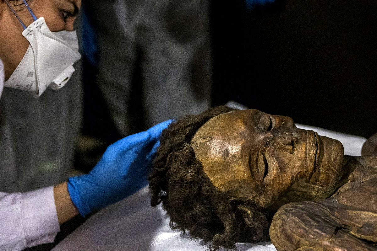 Imagen de la momia guanche hallada en 1776 en Tenerife  (Foto: Efe)