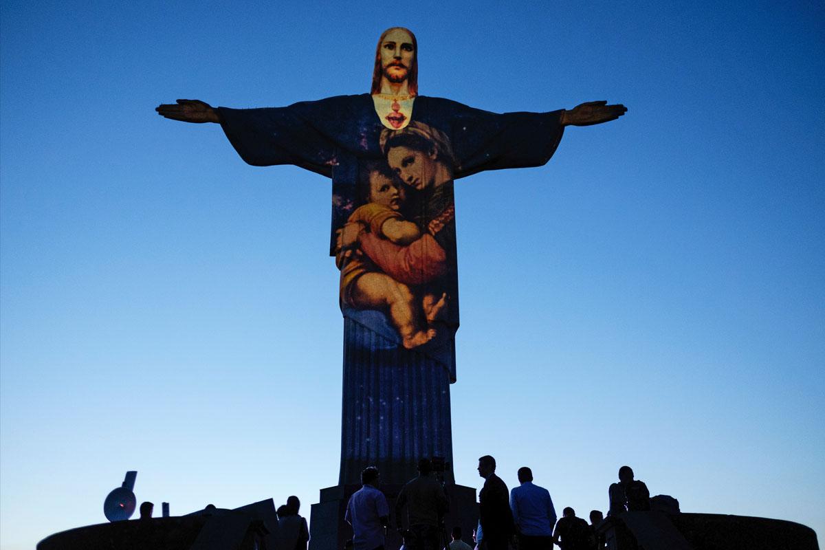 El Cristo Redentor, lienzo de Gaspare Di Caro. (Foto: AFP)