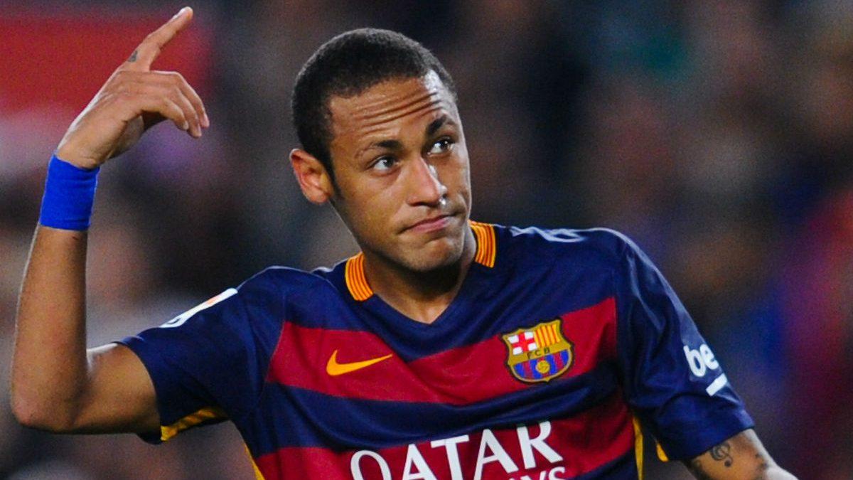 Neymar celebra un gol con el Barcelona. (Getty)