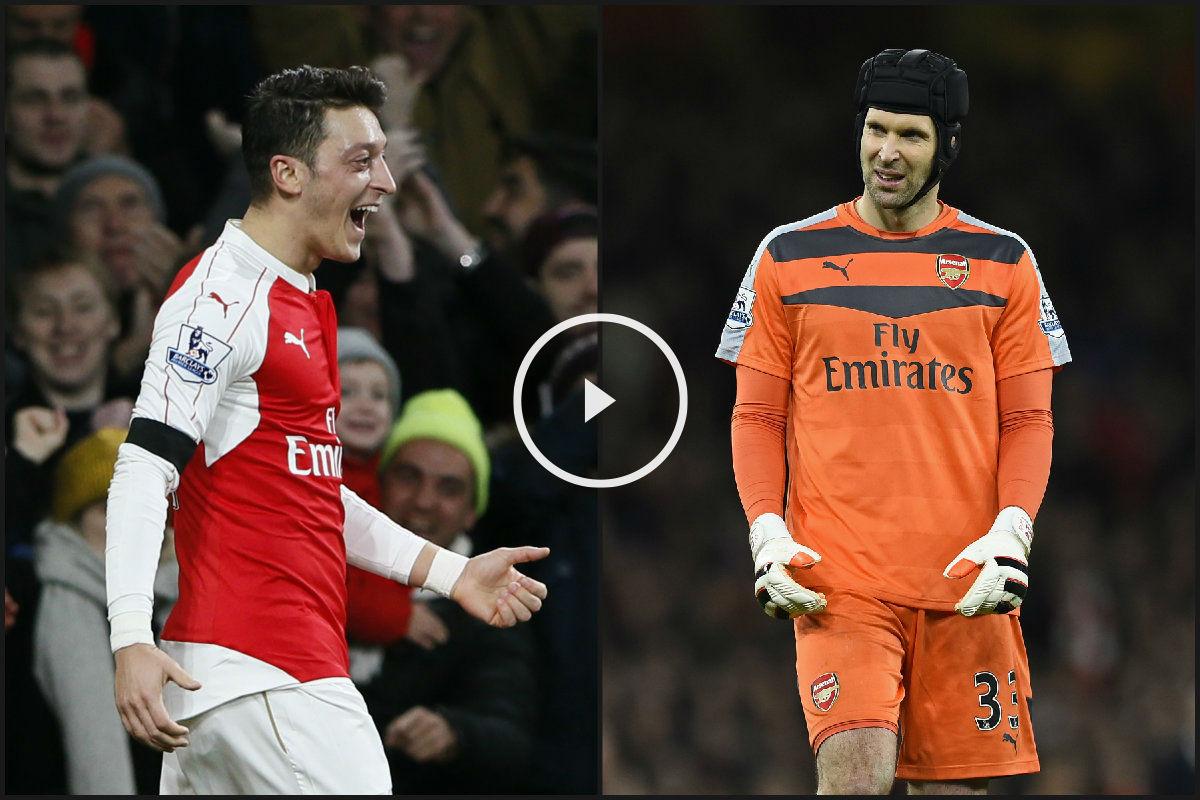 Özil y Cech son clave en el Arsenal. (Reuters)