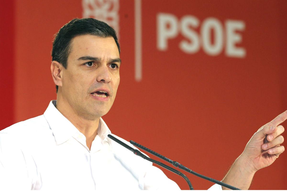 El candidato del PSOE a la presidencia del Gobierno, Pedro Sánchez (Foto: Efe)