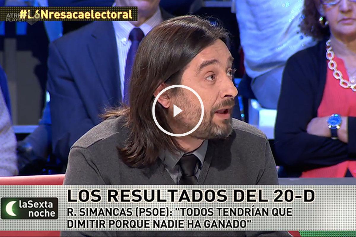 Rafael Mayoral, dirigente de Podemos.