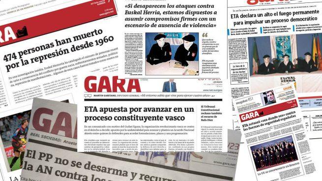 El Diario y Público hacen de altavoces de los intereses del diario proetarra Gara