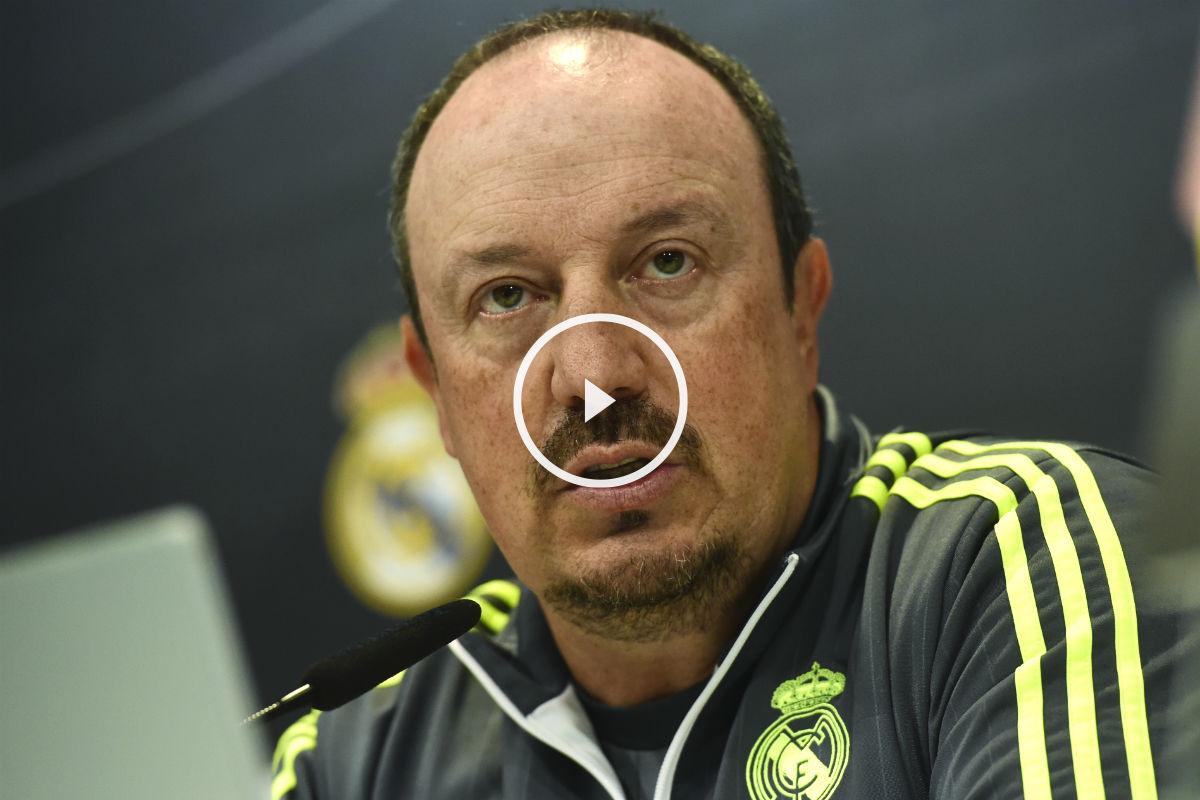 Rafa Benítez pasó al ataque en sala de prensa. (AFP)