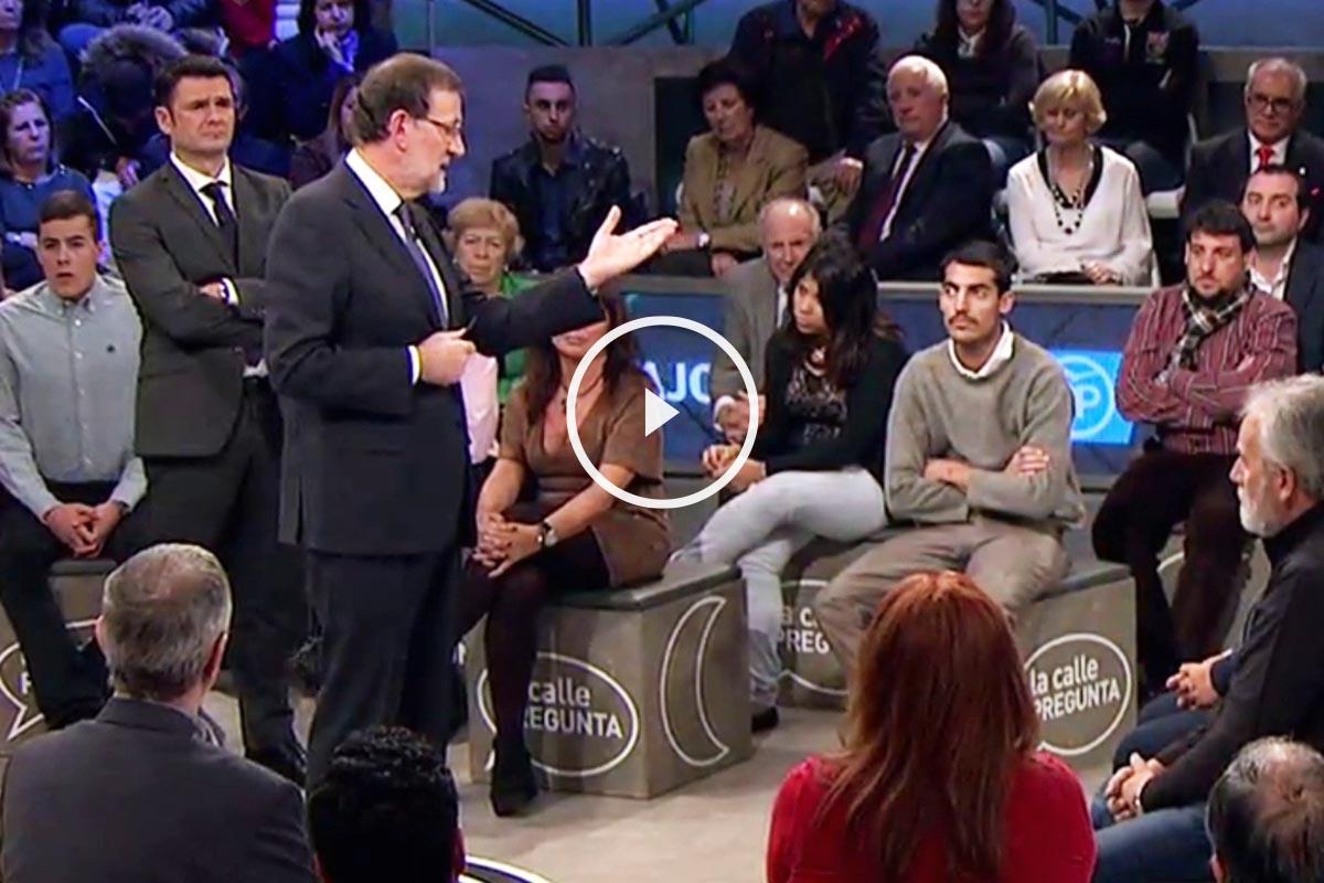 El presidente Mariano Rajoy, en La Sexta Noche